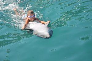 Delfin und Kind