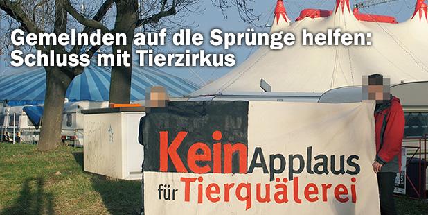 Demo vor Zirkus - Kein Applaus für Tierquälerei!